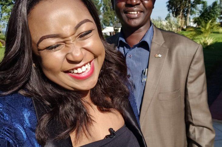 Image of Betty Kyallo with West Pokot Governor John Lonyangapuo