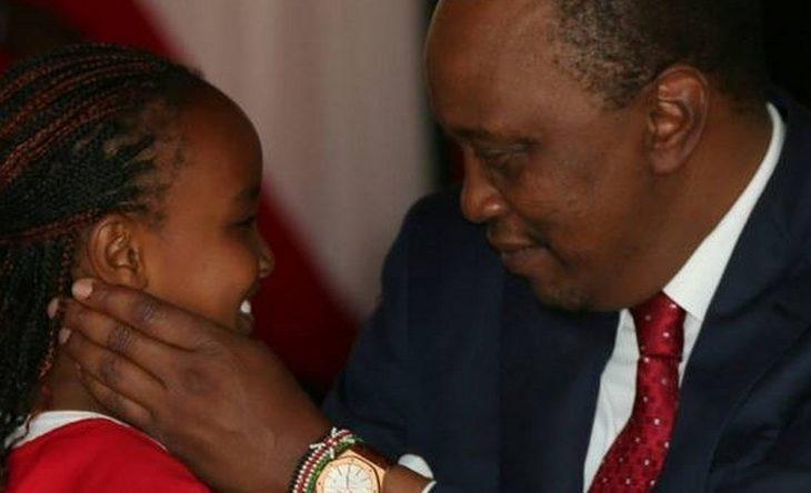 Wendy Waeni with President Uhuru Kenyatta at a past function