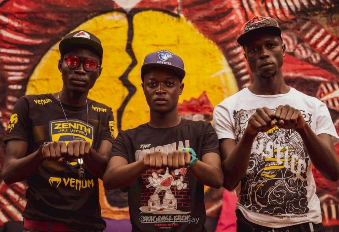 (L-R) Militan, Guzman and Smady Tingz of Mbogi Genje