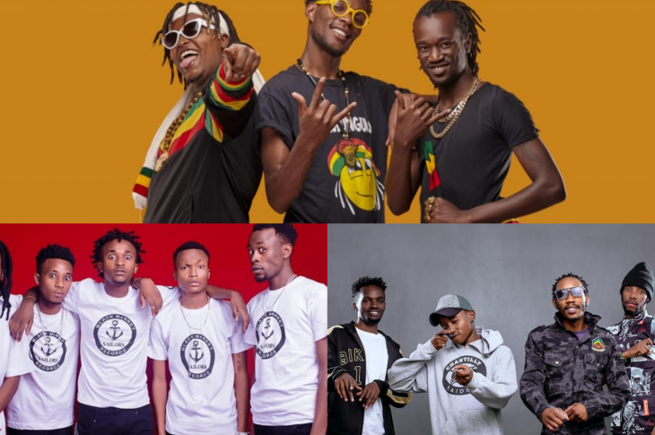 Clockwise; Ochungulo Family, Ethic Entertainment and Sailors Gang