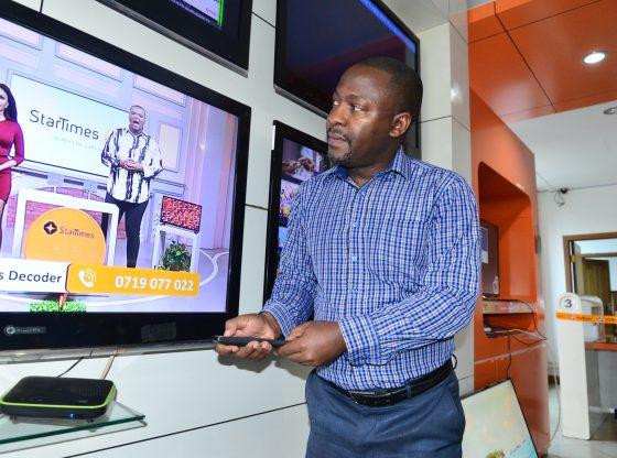 StarTimes Regional Marketing Director Aldrine Nsubuga during the unveil.
