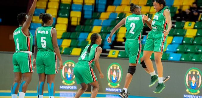 Kenya's players beat Egypt in an entertaining final played at the Kigali Arena in Rwanda on July 17, 2021.